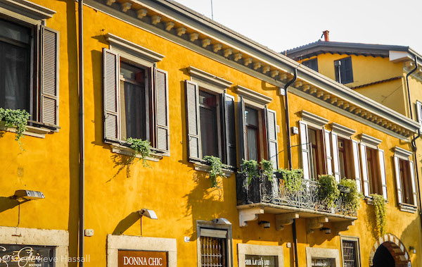 Colourful building in Verona