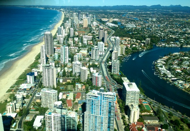 View over Gold Coast from Skypoint Q1
