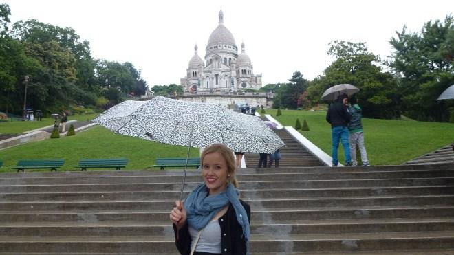 Sacre Coeur, Paris on a rainy day