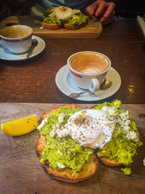 Photo of brunch at Bond Store Cafe in Southbank, Melbourne