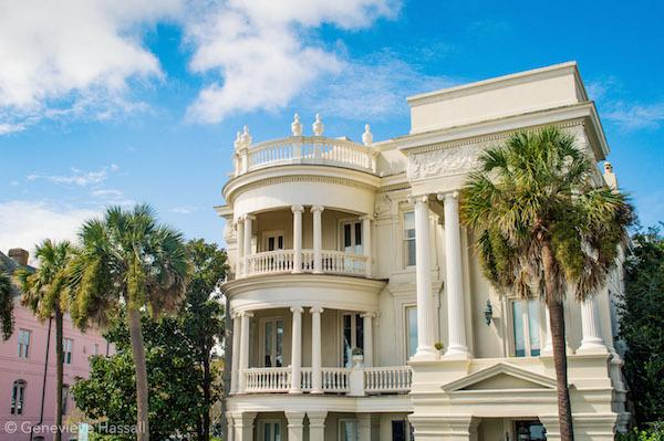 Yellow Italian mansion Charleston The Battery SC