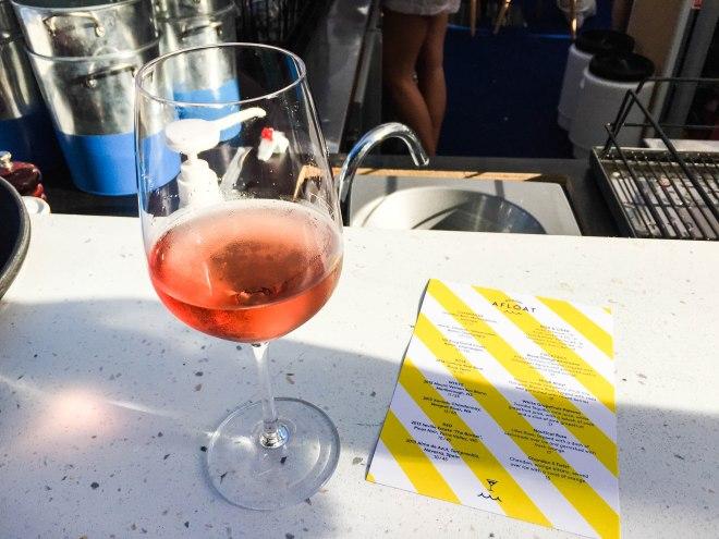 Rose at Arbory Afloat, Melbourne floating bar