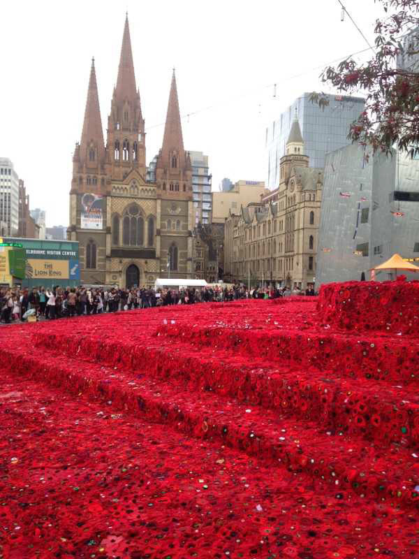 Anzac Day in Fed Square Melbourne