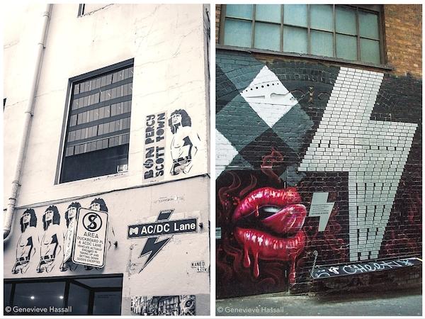 ACDC Lane Melbourne Street Art Laneway