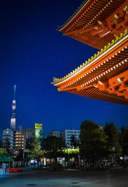 Photo of Senso Ji Temple and Tokyo Sky Tree in Asakusa