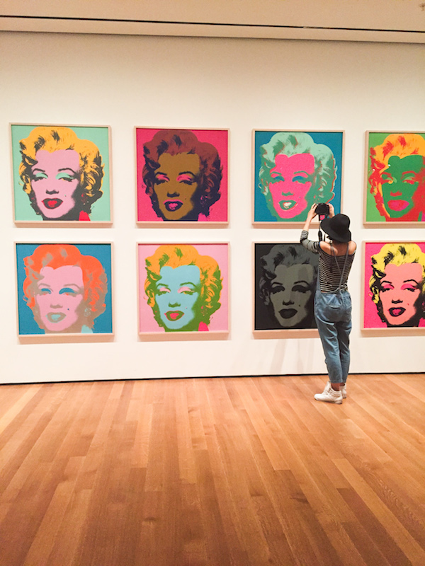 andy warhol marilyn monroe portraits moma nyc museum