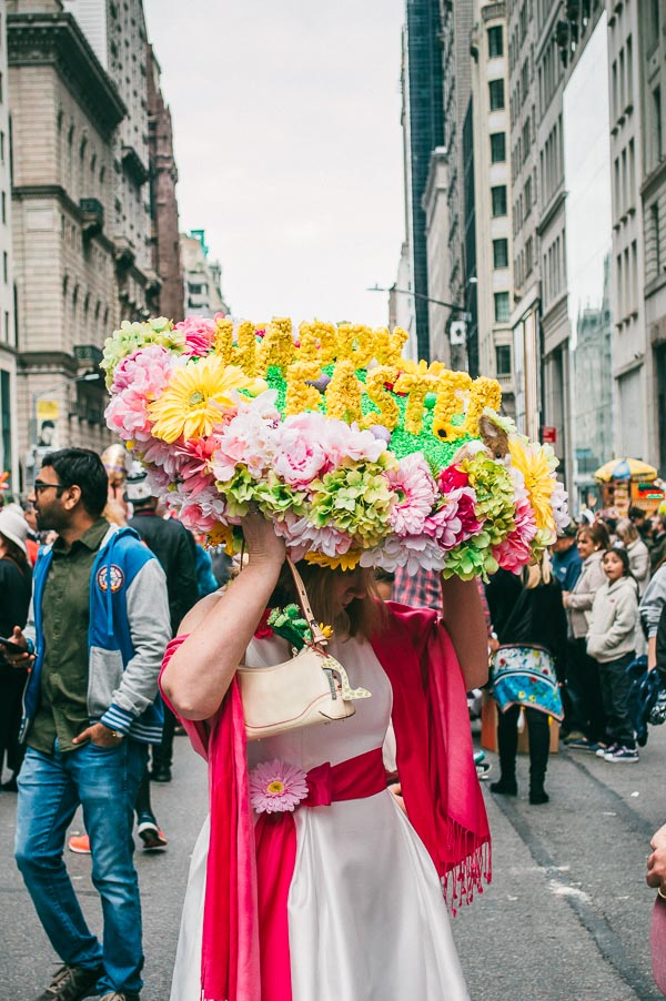 happy easter bonnet at 5th avenue easter parade nyc