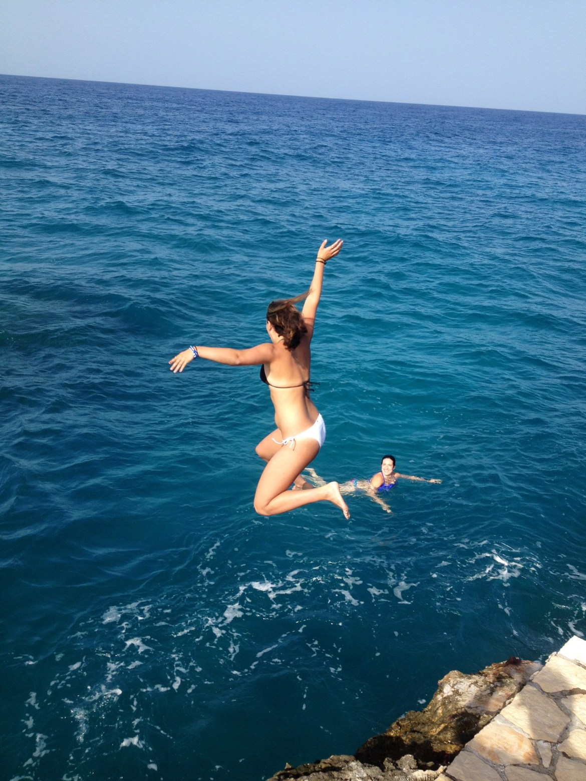 Jumping for joy in Jamaica