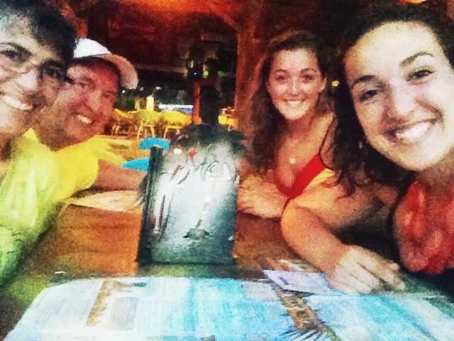 Family dinner at Margaritaville, Jamaica