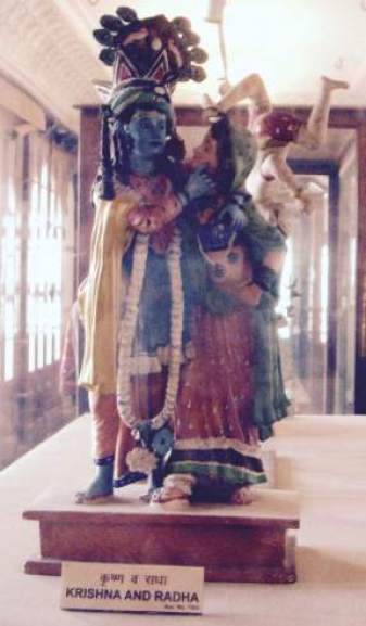 radha krishna scupture in Albert Hall Museum Jaipur Jaipur images India
