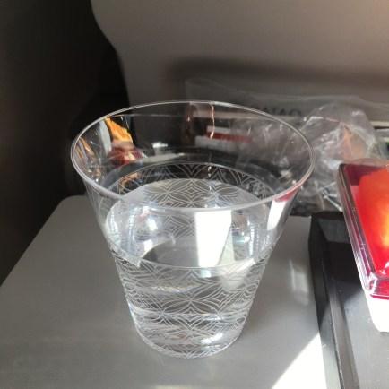 Water glass at Doha Hamid International Airport