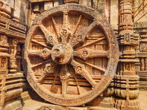 A large wheel at Sun temple Konark