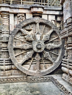 A wheel in Sun temple konark