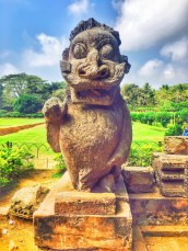 A sculpture in Sun temple konark