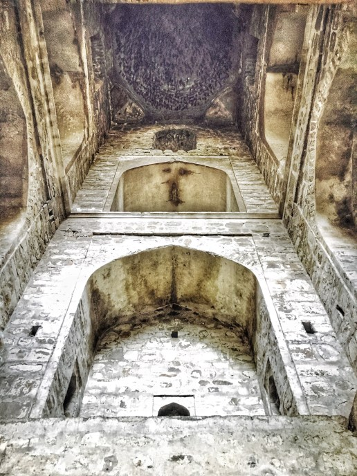 Interiors of Agrasen ki Baoli Delhi India