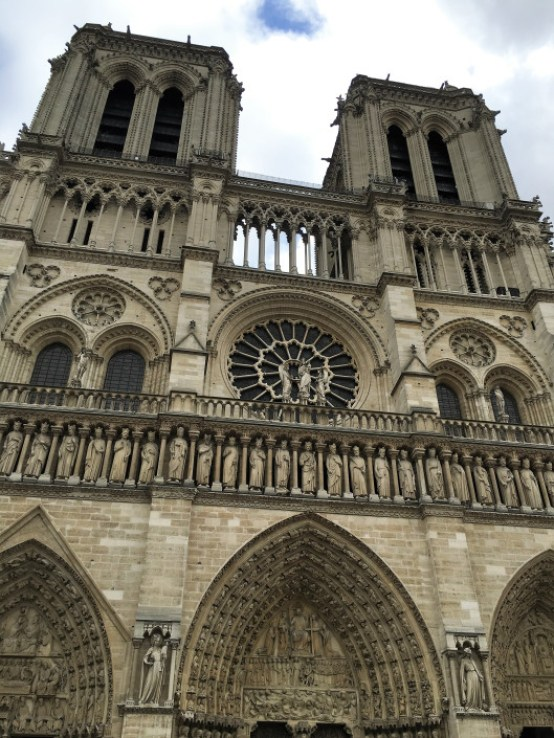 notre-dame-front side | Facts about the Notre Dame Cathedral | Notre Dame Cathedral Paris | #thewanderingcore #paris #france