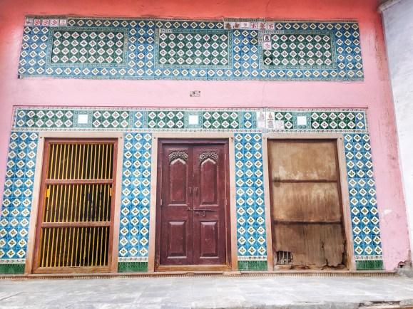 colorful Doors of Vrindavan   Vrindavan photography