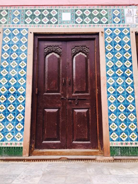 colorful Doors of Vrindavan | Vrindavan photography