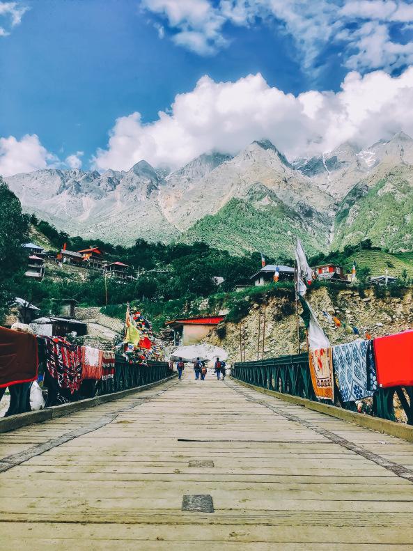 Baspa River Bridge Sangla valley Himachal Pradesh India
