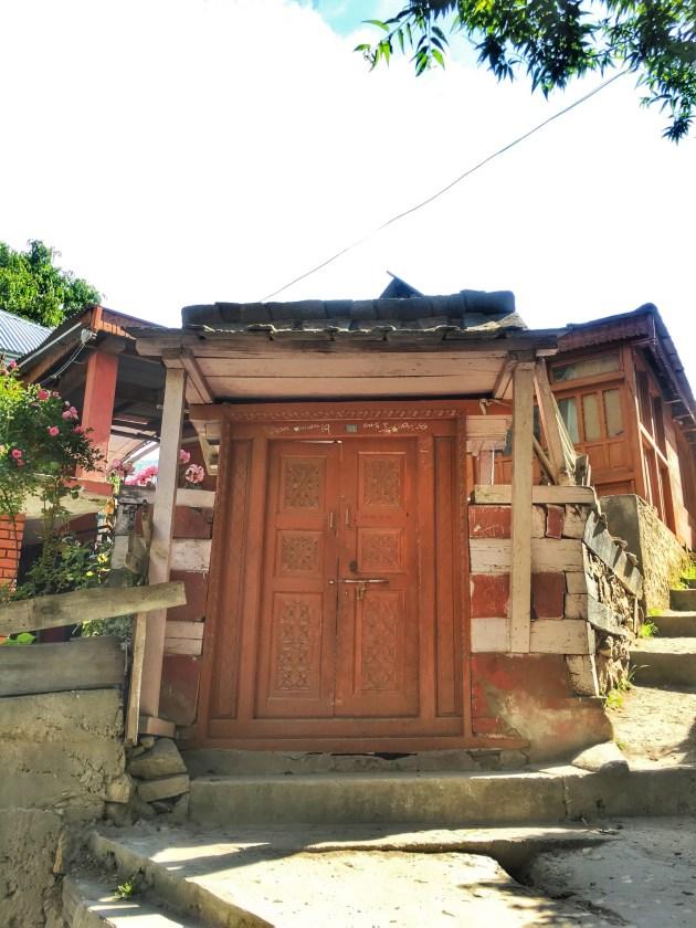 Sangla Valley Kinnaur | Door in Sangla valley house
