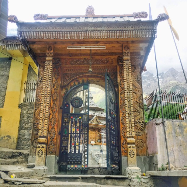 Sangla Valley Kinnaur | Entry of the Bering Nag Temple Sangla valley Himachal Pradesh India