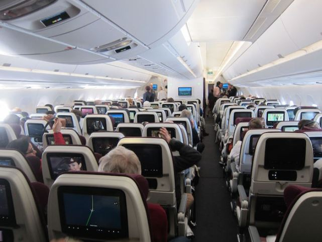 Qatar Airways Economy class review | Qatar Airways - Cabin - Economy