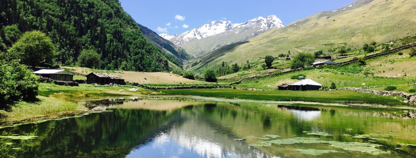Sangla Kanda Lake from Sangla Valley Himachal Pradesh India