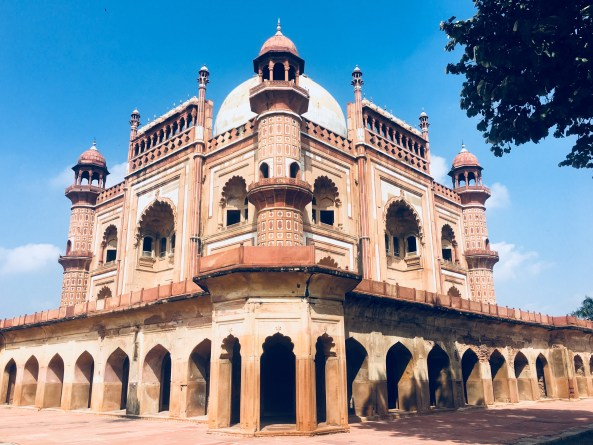 Safdarjung Tomb - A corner view from ground
