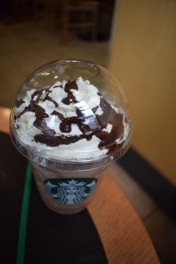 Starbucks cold coffee, Prague Czech Republic