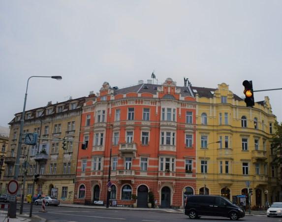 Prague - buildings in colors
