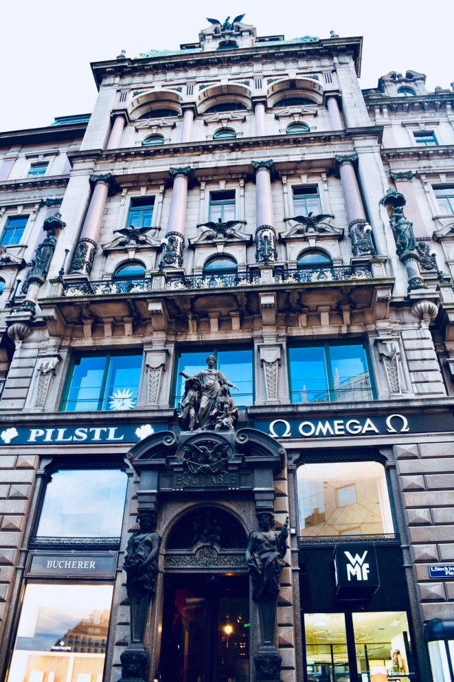 Entrance of Omega showroom In Vienna