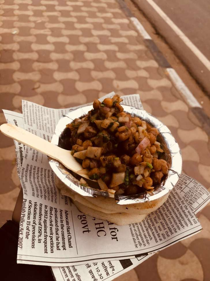 things to do in Chandigarh | Chole Kulche at Sukhna Lake Chandigarh India