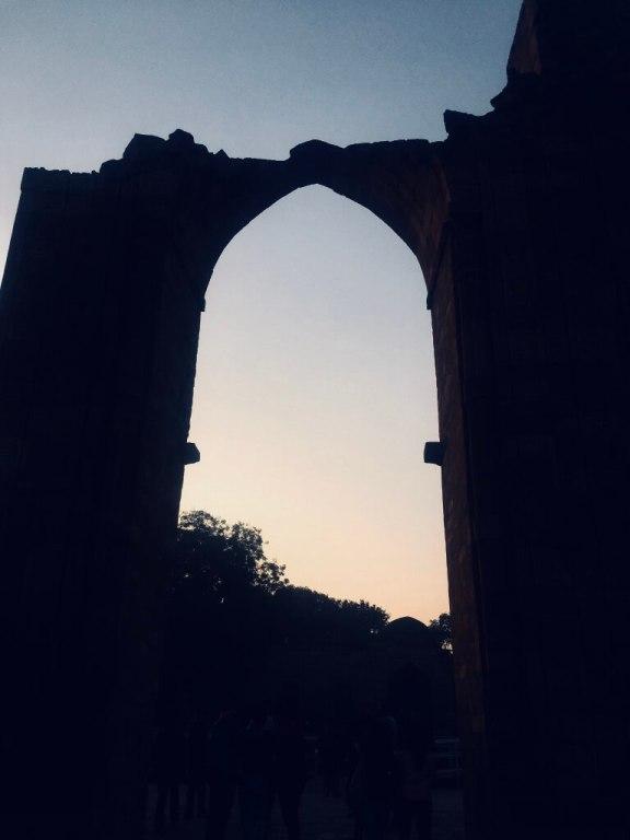 Qutub Minar, Delhi, India || A silhouette on sunset