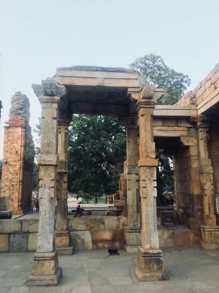 Qutub Minar, Delhi, India || stone work