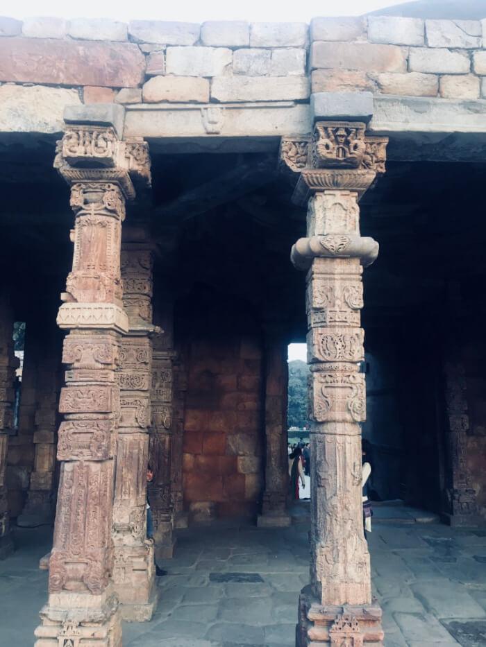 Qutub Minar Stone work