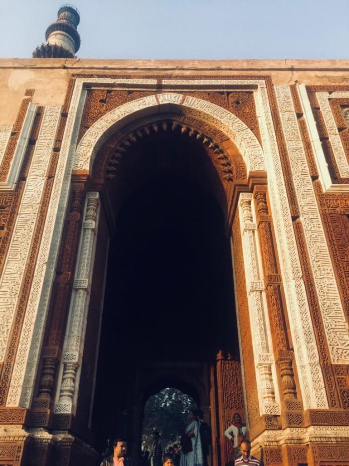 Somewhere in Qutub Minar Delhi India