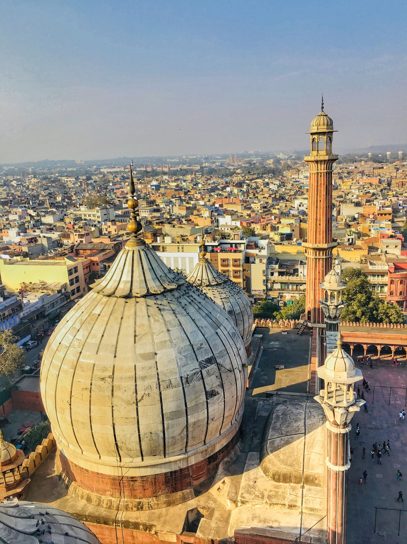 views of city including the tomb of Mosque from the Minaret in Jama Masjid    The largest mosque in India