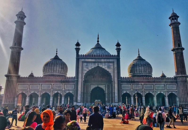 The Prayer Hall building of Jama Masjid