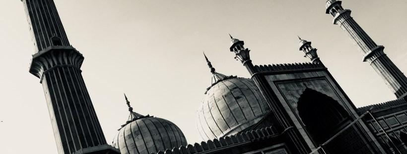 Side angle of Jama Masjid Delhi