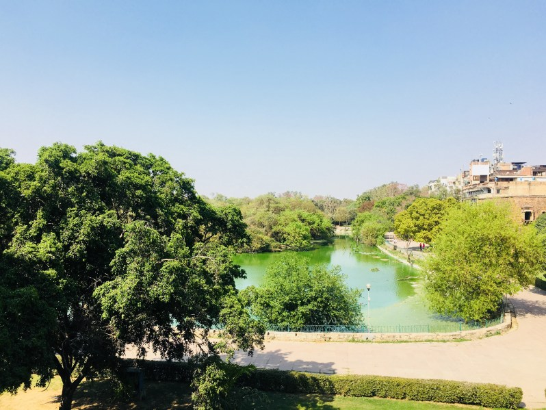 The view of the lake from Hauz Khas Fort