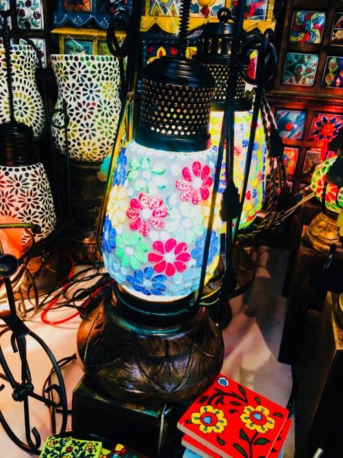 Lampshade in Dilli Haat