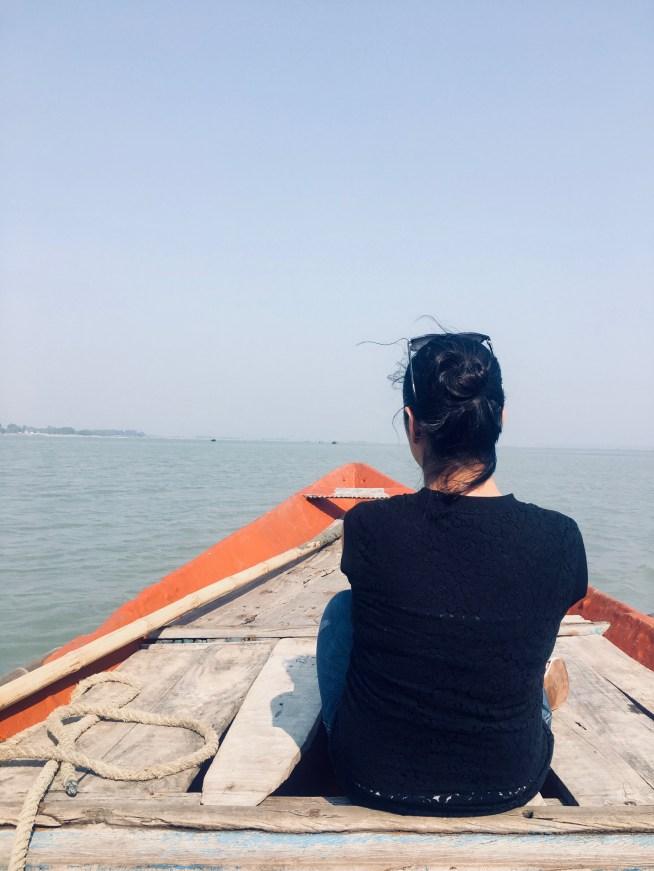 Shivani at Chilika Lake Odisha