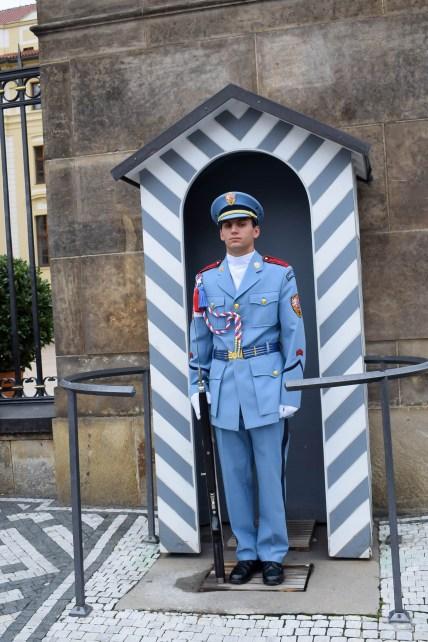 Guard at Prague castle entrance