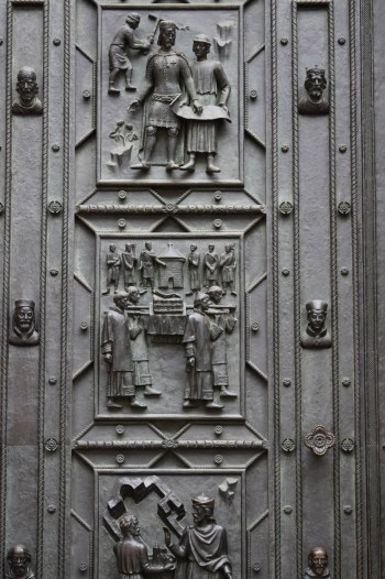 St Vitus Cathedral intricate work on door