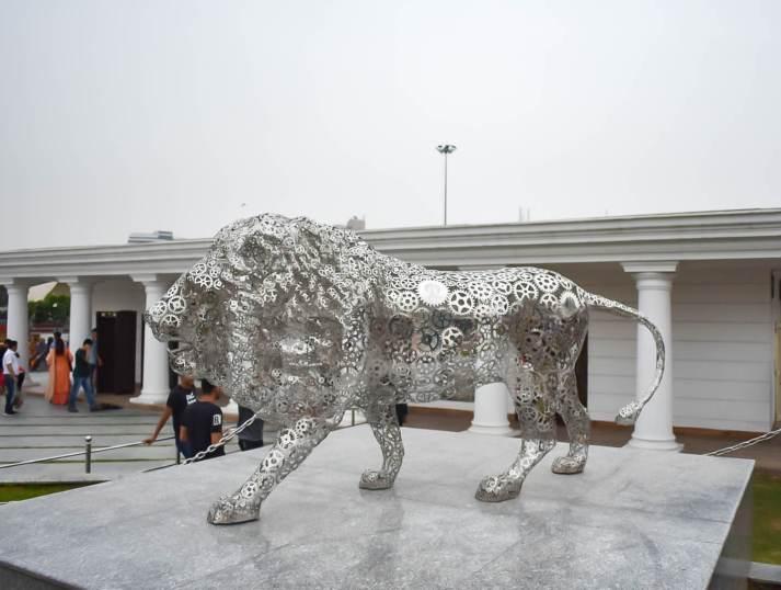 steel lion