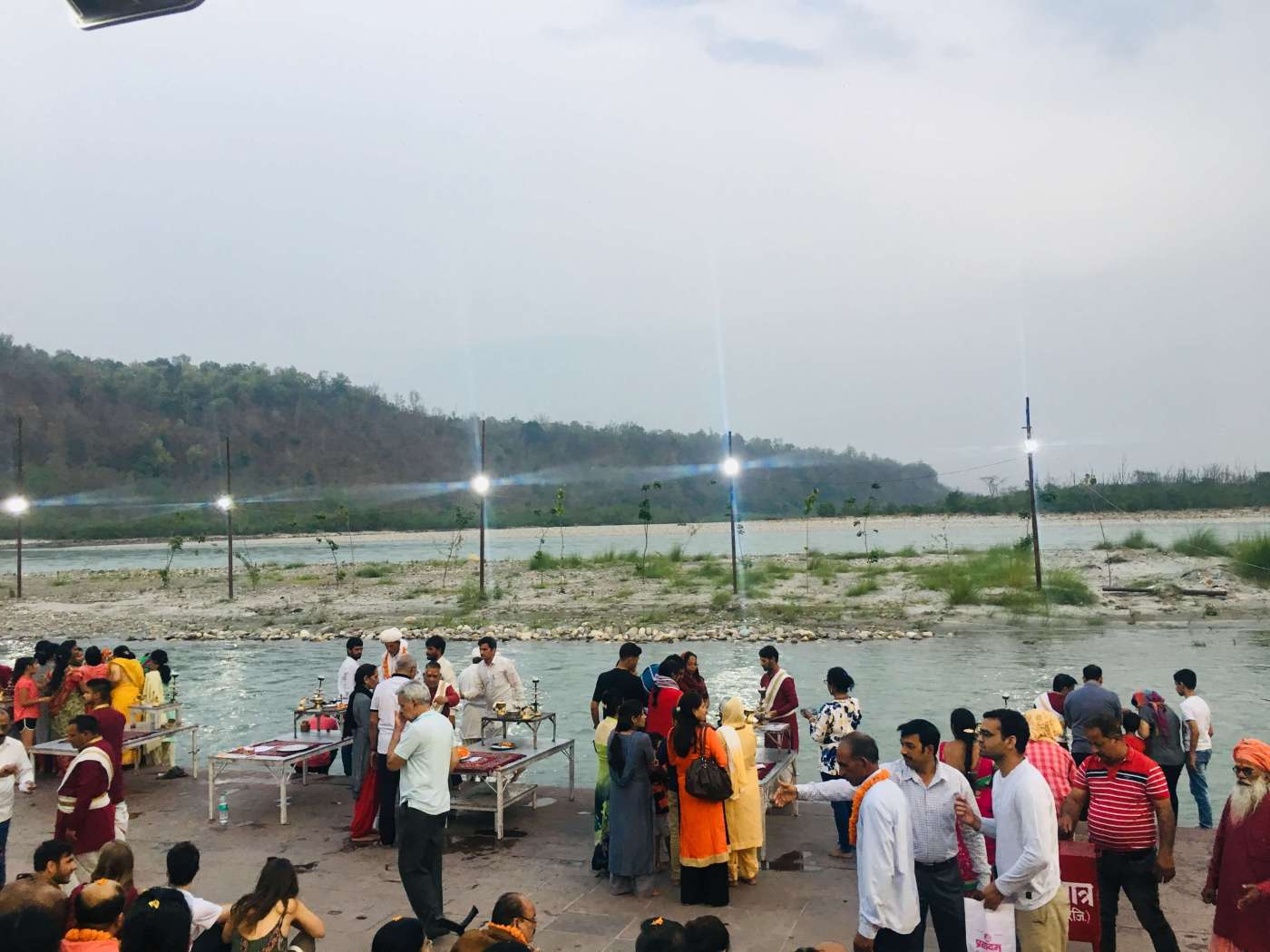Triveni ghat aarti on my Rishikesh trip