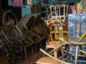 Rattan furniture items