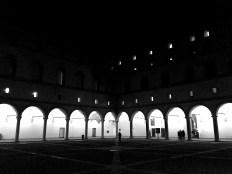 Courtyard at the Sforza Palace