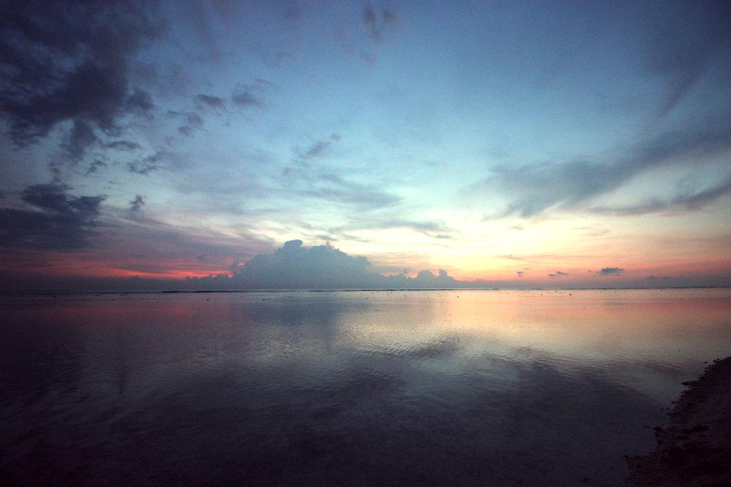 Thuiskomen, Sunset Gili Trawangan.