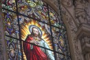 A stained glass depicting Jesus